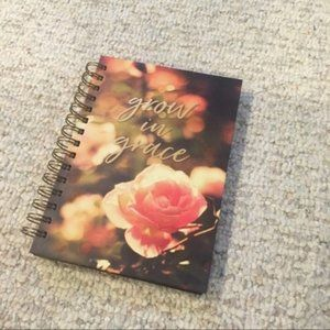 """NWT """"Grow in Grace"""" 192 lined page blank notebook"""